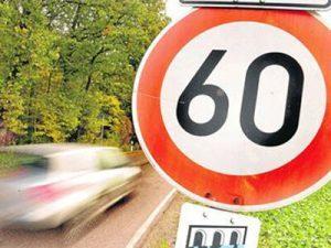 знак 3.29 - ограничение 60 км/ч