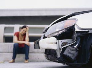 Авария с женщиной