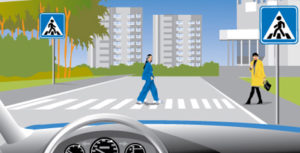 Размер штрафа за пешехода: 1500-2500 рублей, наказание