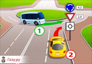 Правила проезда кругового движения: изменения, штраф, приоритет