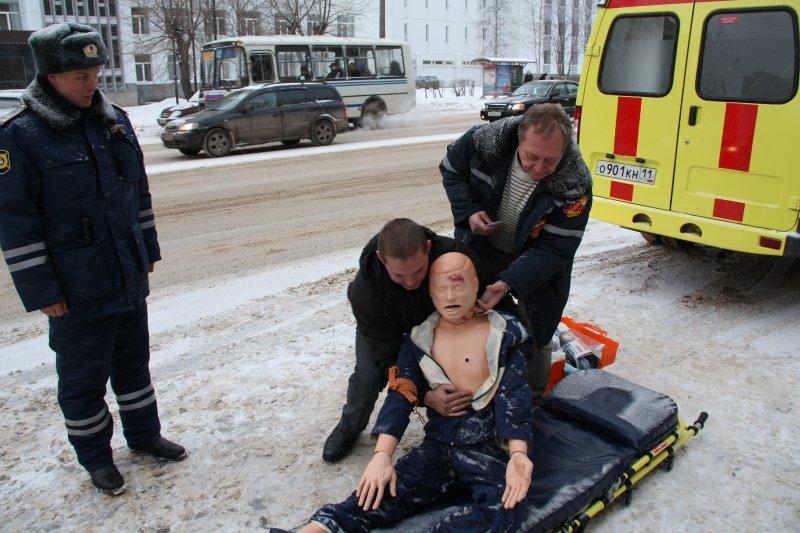 Первая помощь пострадавшим при происшествии на дороге