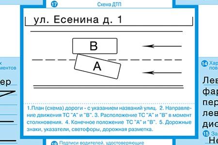 Оформление извещения о ДТП: бланк, заполняемые пункты, лицевая и обратная сторона, правила